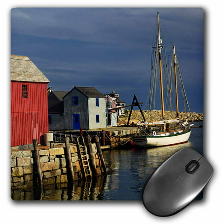 3dRose Sailboat, Rockport harbor, Massachusetts - US22 AJE0041 - Adam Jones, Mouse Pad, 8 by 8 inches