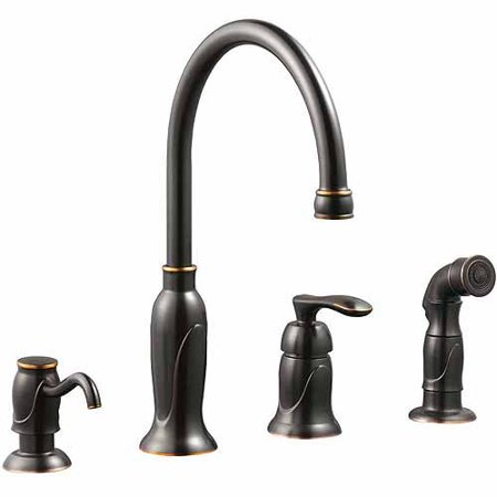 with power faucet stainless kitchen handle depot clean resist spot compressed in the n sprayer moen out b banbury home faucets single pull