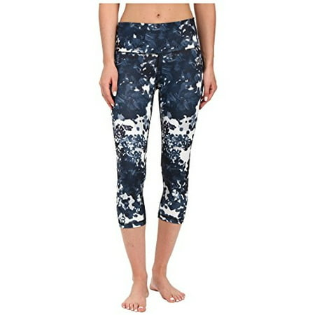 adidas Women's Performer High-Rise 3/4 Tights - Floral Explosion Print Black Print/Matte Silver Pants