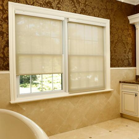 Best Home Fashion Premium Linen Look Roller Window (Best Shades Or Blinds For Casement Windows)