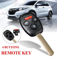 Keyless Entry Remote Key Fob Shell Case Replacement For 2008-2011 Honda Accord 4 Buttons BTN