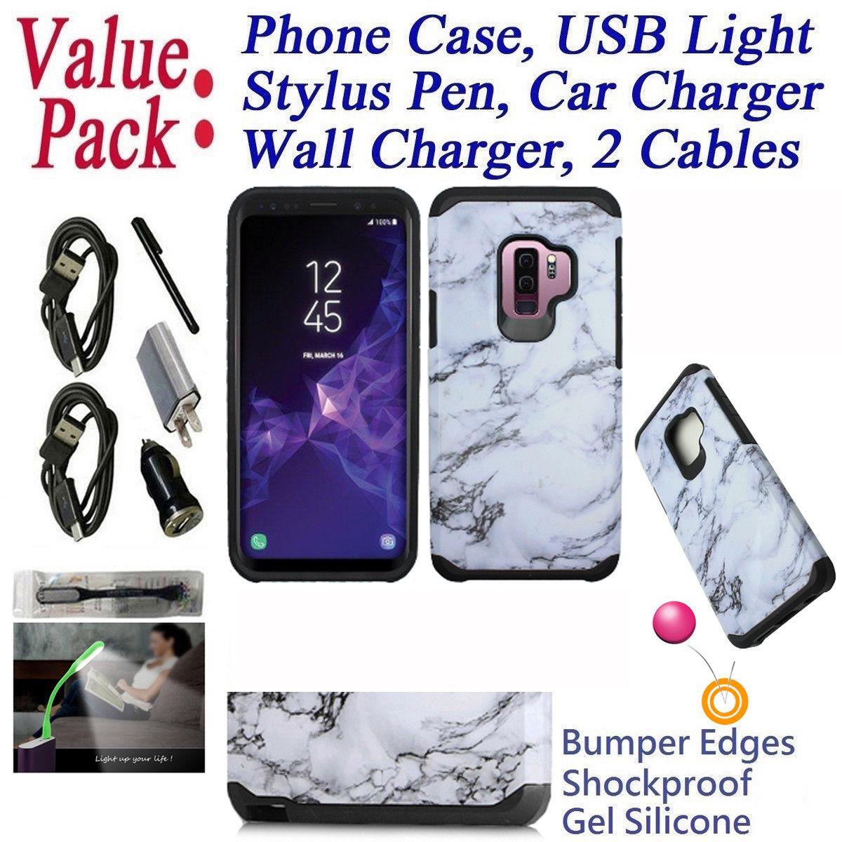 "Value Pack + for 6.2"" Samsung S9 + PLUS Galaxy S 9 + PLUS Case Hybrid Phone Case Shock proof Edges Drop Bumper Scratch Shield Slim Cover Emblem Neon"