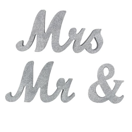 Mr And Mrs Sign Wedding Table Decorations Mr And Mrs Letters