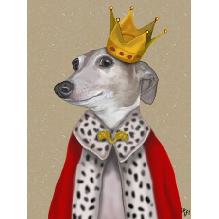 Greyhound Queen Print Wall Art By Fab Funky