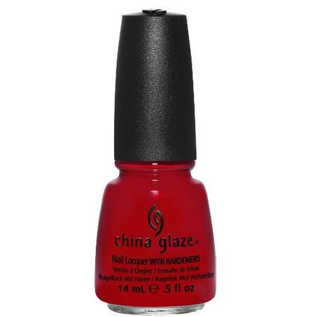 China Glaze Nail Polish - RED SATIN
