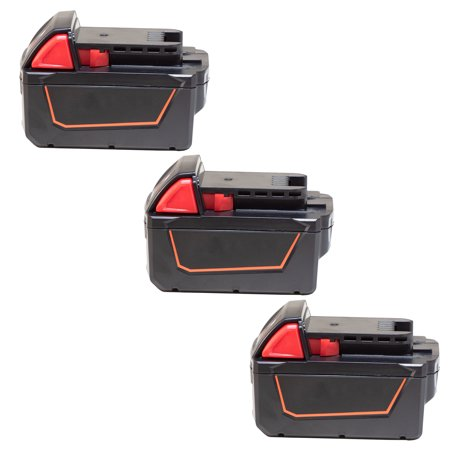 Replacement Battery For Milwaukee M18 XC Power Tools - 48-11-1840 (4000mAh, 18V, Li-Ion) - 3 Pack ()