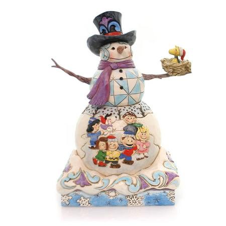 Jim Shore Snow White (Jim Shore SNOW DAY Polyresin Peanuts Gang Woodstock Snowman 4057670)