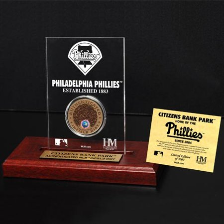 Citizens Bank Park Acrylic Display By The Highland Mint   Infield Dirt Coin