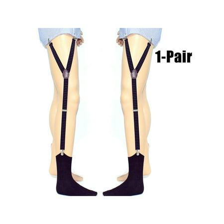 1 Pair Mens Shirt Stays Elastic Non-Slip Anti-Wrinkle Shirt Garter Suspenders Shirt Holder - Mens Shirt Garters