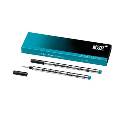 Mont Blanc Rollerball Refill, M 2X1, Barbados Blue (106932) …](mont blanc ink cartridges)