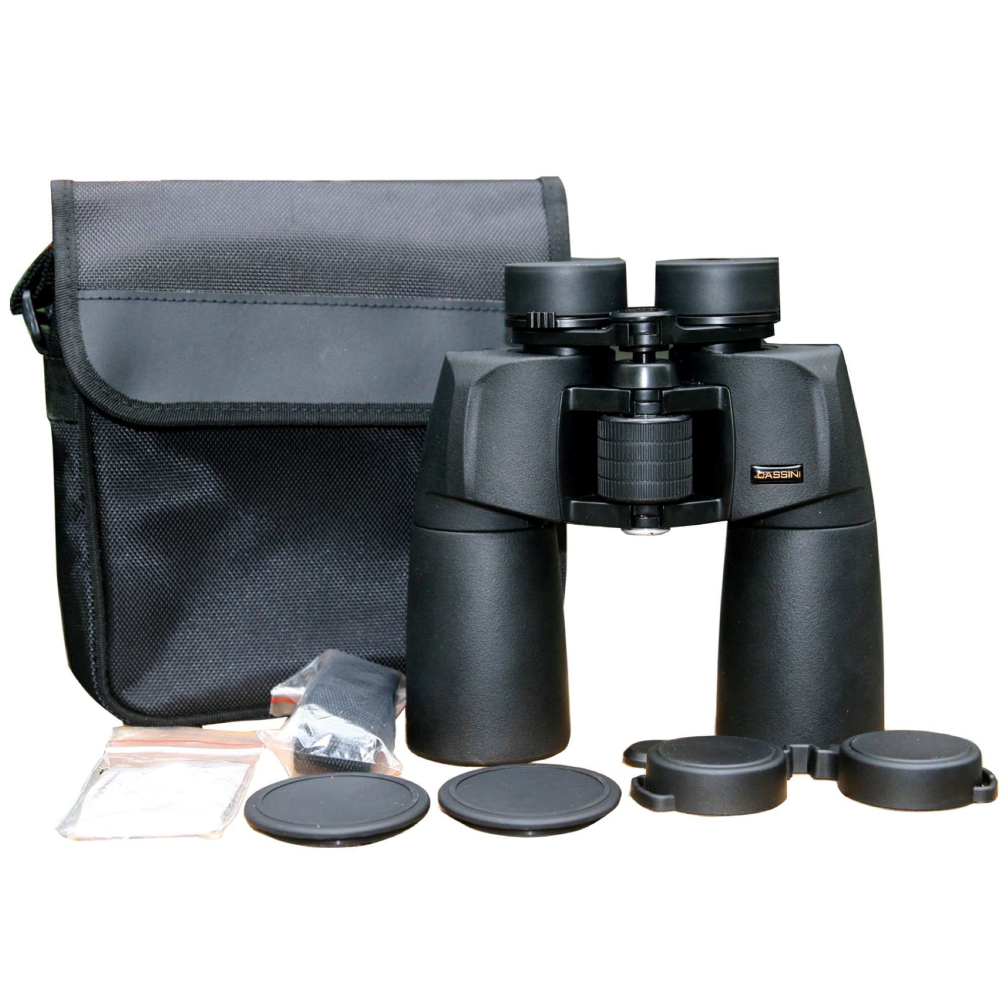 Cassini 12 x 50mm Nitrogen Purged Waterproof & Fogproof Land and Sky Binocular with BAK4 Prisms, Twist Up Eyecups , Shoulder Case and Tripod Port