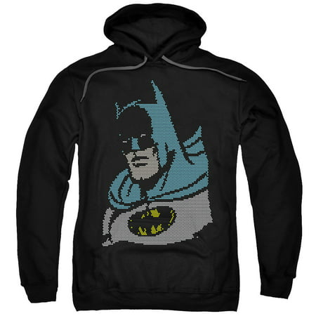dc lite brite batman mens pullover hoodie. Black Bedroom Furniture Sets. Home Design Ideas