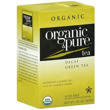Organic & Pure décaféiné Thé vert, 18BG (Pack de 6)