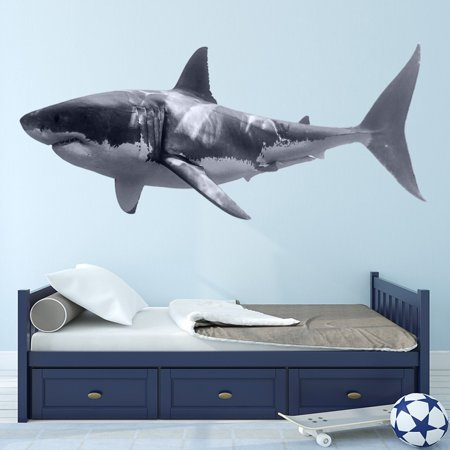 VWAQ Great White Shark Wall Decal Realistic Shark Stickers Peel And Stick Mural VWAQ-PAS3 (16