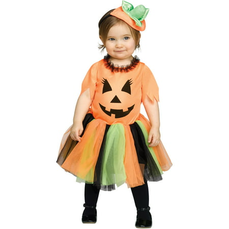 Fun World Pretty Pumpkin Toddler's Halloween Costume - Homemade Toddler Pumpkin Halloween Costume