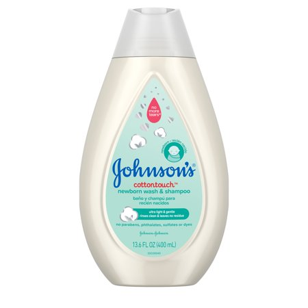 Johnsons CottonTouch Newborn Baby Wash & Shampoo, 13.6 fl. oz