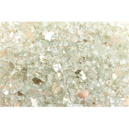 FireGlass Plus Q-PR-10 Quarter Inch Platinum Reflective Fire Glass, 10 Pound Bag