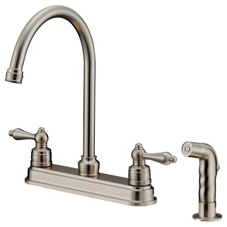 LessCare LK8B Kitchen Faucet With Shower Sprayer, Brushed Nickel Manual Shower Faucet