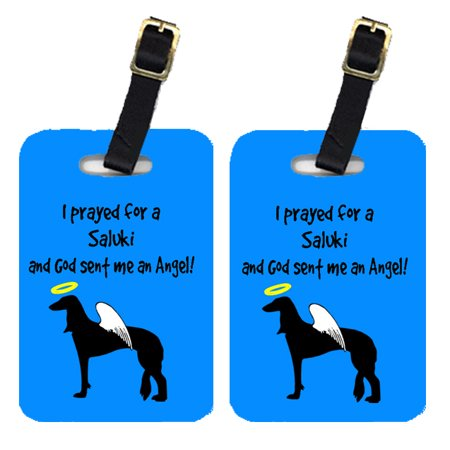 Pair of 2 Saluki Luggage Tags