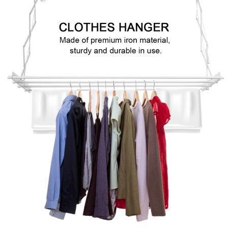 Yosoo Wall-mounted Clothes Hanger,Indoor Retractable Drying Rack,Multifunction Retractable Wall-Mounted Drying Laundry Rack Clothes Hanger Indoor
