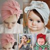 Newborn Baby Toddler Kids Boy Girl Bowknot Soft Beanie Hat Cap Hair Accessories