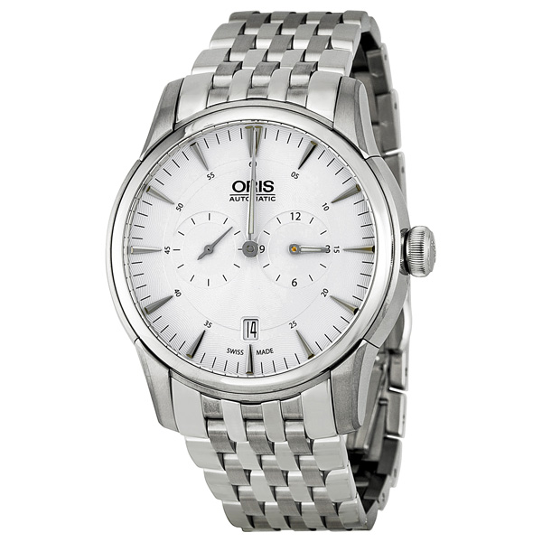 Oris Artelier Regulateur Automatic Silver Guilloche Dial ...