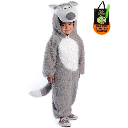 Big Bad Wolf Costume for Toddler Treat Safety Kit