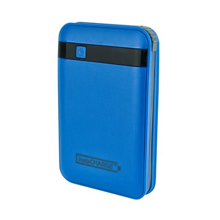 InstaCHARGE 11000mAh Power Bank Portable Device And Phone Charger - Blue