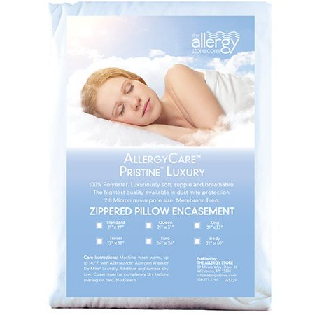 Allergy Store Pristine Luxury Dust Mite Proof Pillow Covers - Queen, 100% Polyester | Allergy-Reducing Relief