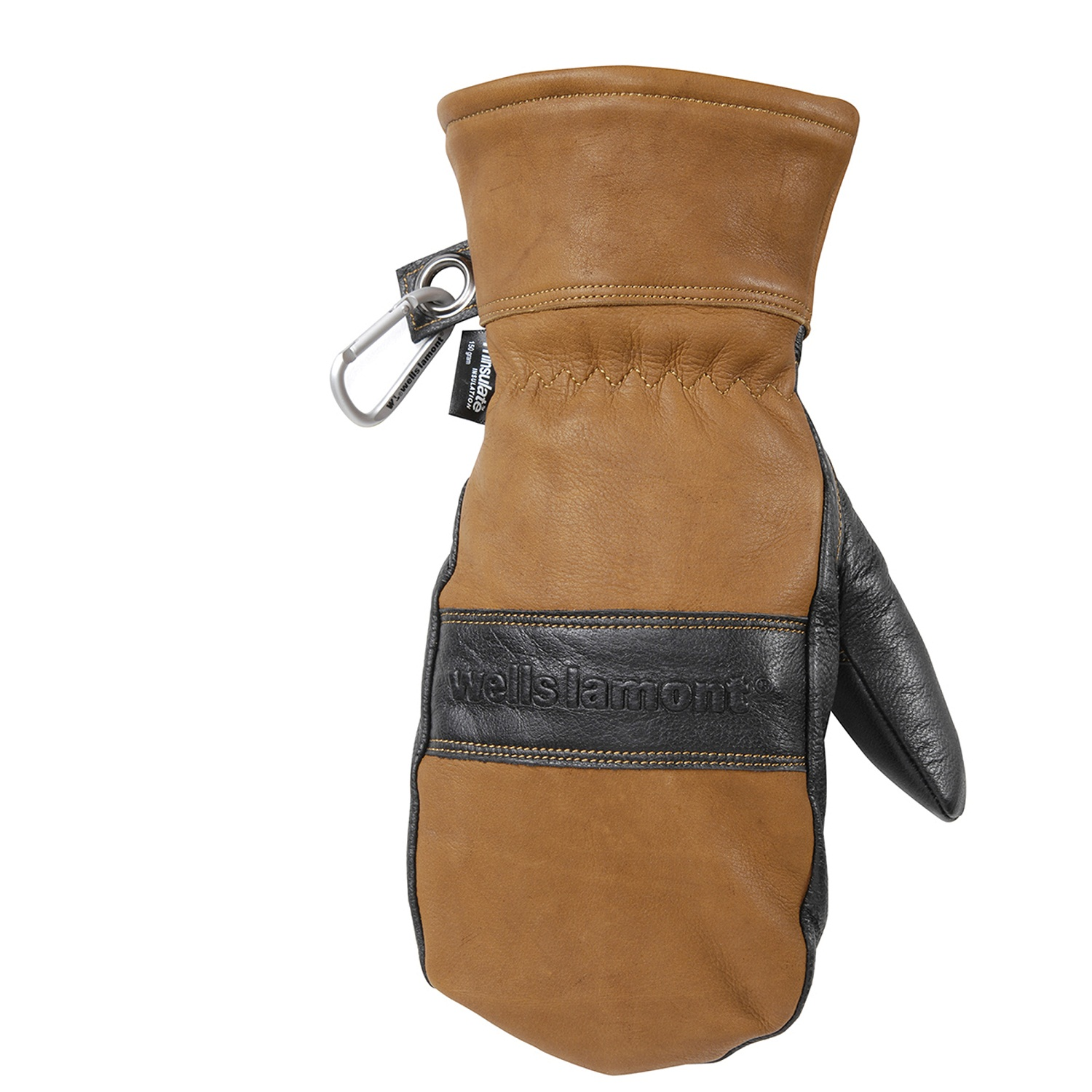 WELLS LAMONT HydraHyde Mens Full Grain Leather WP Mitten L