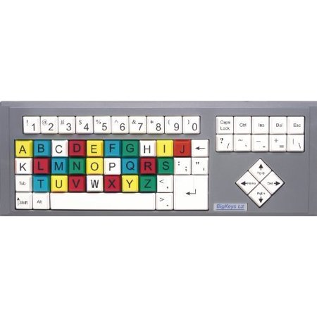 Bigkeys Lx Abc Large Print Usb Wired Keyboard   Colored Keys   Black Characters