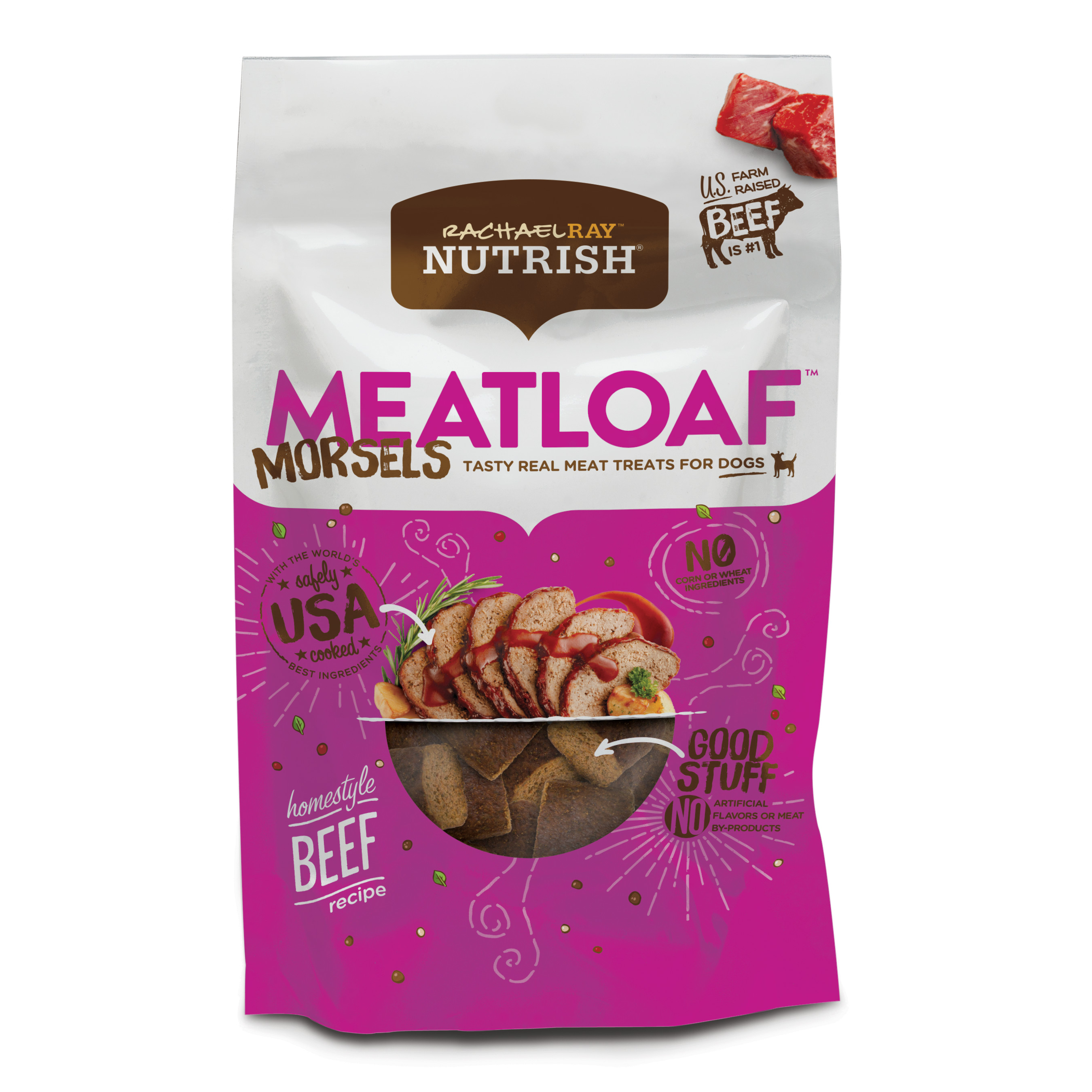 Rachael Ray Nutrish Meatloaf Morsels Dog Treats, Homestyle Beef Recipe, 12 oz