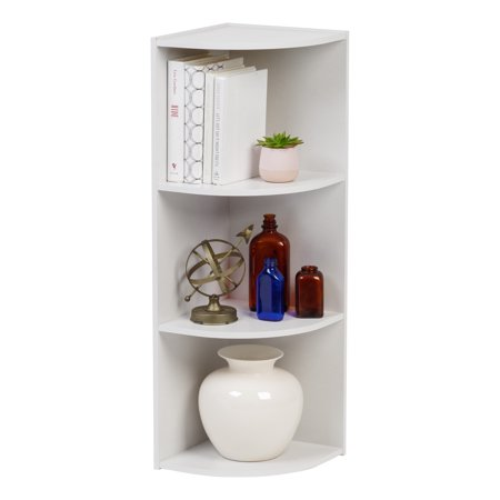 IRIS 3-Tier Wood Corner Curved Shelf Organizer,