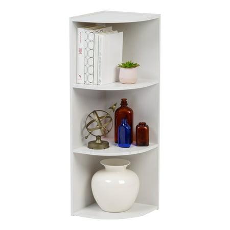 IRIS 3-Tier Wood Corner Curved Shelf Organizer, (Custom Corner Shelf)