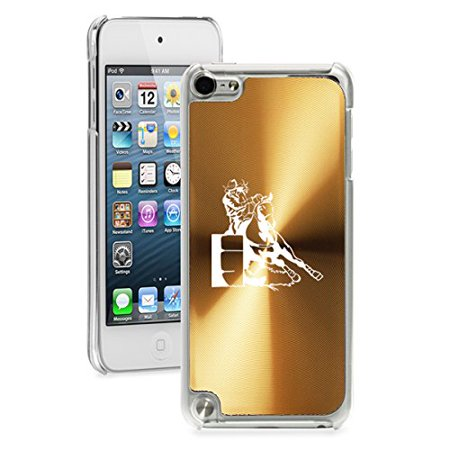 For Apple iPod Touch 5th / 6th Generation Hard Back Case Cover Female Barrel Racing Cowgirl - Gold Barrel Racing