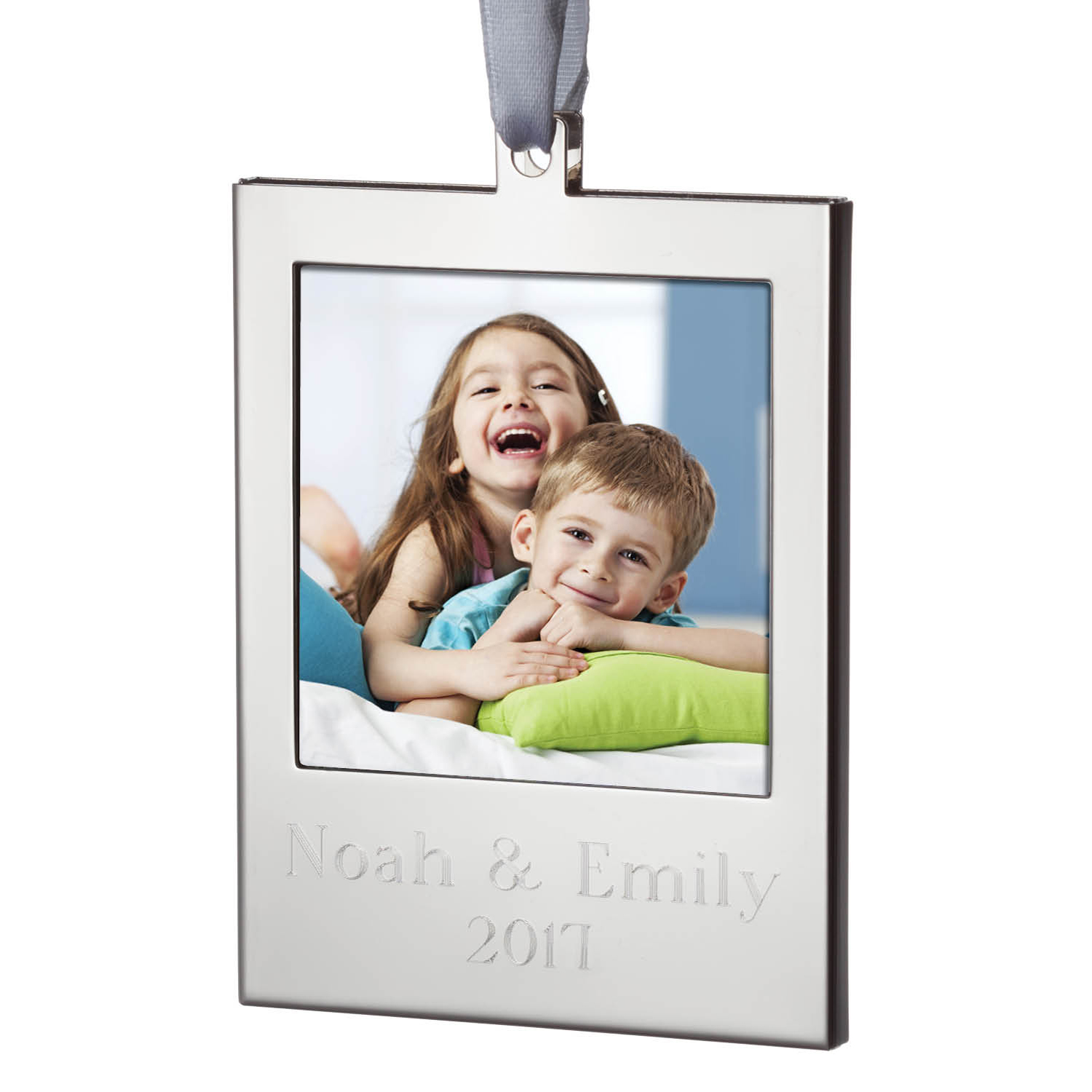 Personalized Silver Frame Ornament