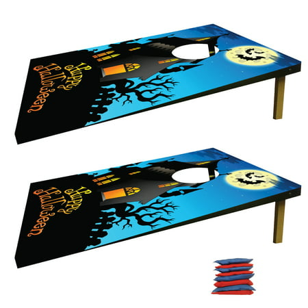 Happy Halloween Haunted House Bag Toss Game](Halloween Basketball Game Ideas)