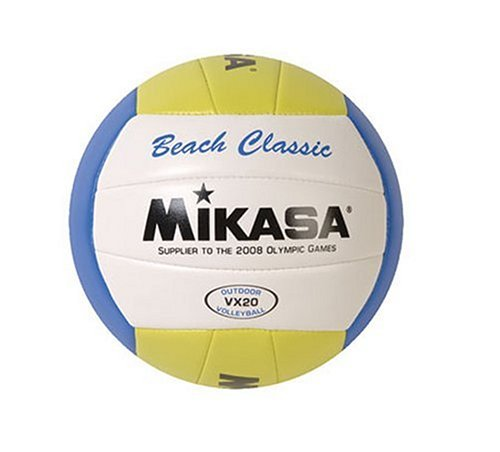 Mikasa VX20 Beach Classic Volleyball, Ball VX MVA200 BCSPSH BLUEYELLOWWHITE 1612 Beach by 30 10 Cart BlueYellow OFFICIAL Volleyball Blue MVA330.., By Mikasa Sports