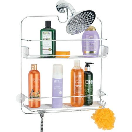 Mainstays Hadyn Wide Shower Caddy Chrome Walmartcom