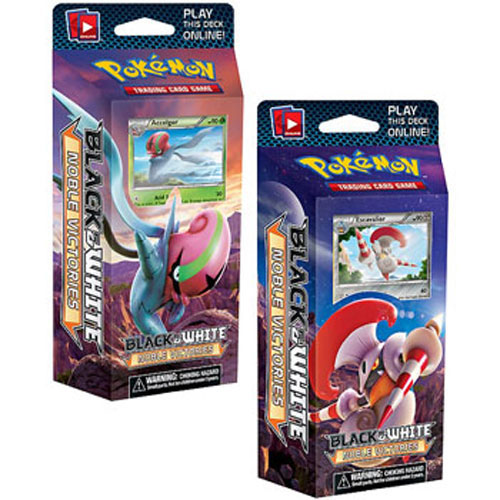 Pokemon Cards - BW Noble Victories - Theme Decks - Set of 2 (Furious Knights & Fast Daze)
