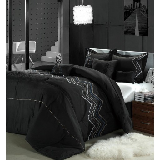 12pc Hori Black Luxury Bed-in-a-Bag