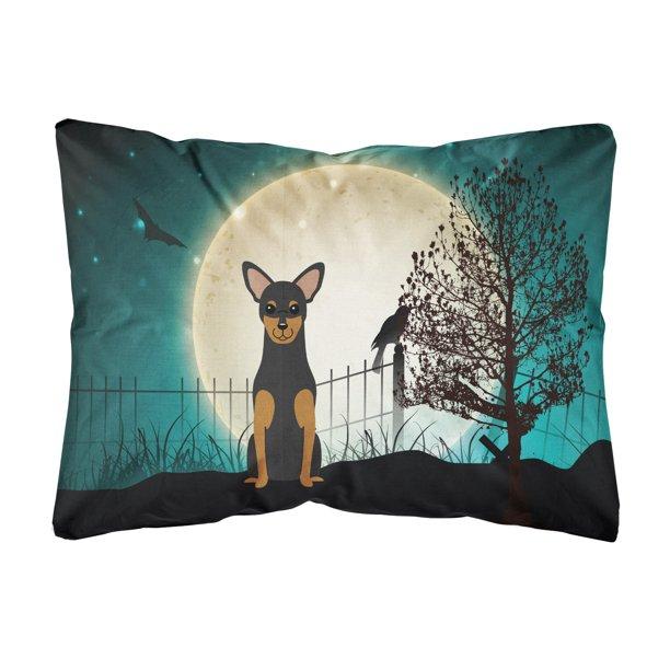 Halloween Scary Manchester Terrier Canvas Fabric Decorative Pillow Walmart Com Walmart Com