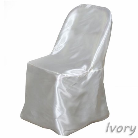 BalsaCircle Satin Folding Chair Cover Wedding Catering Party