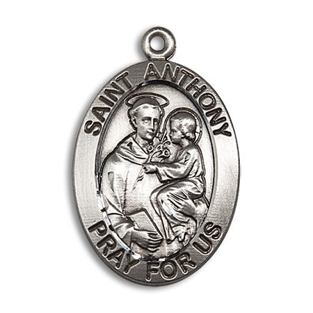 St  Anthony Medal Pendant In Sterling Silver By Bliss Mfg  St  Anthony Is Known As The Patron Saint Of Lost Articles  The Poor