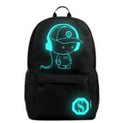 Luminous Backpack Noctilucent School Bags Daypack USB chargeing port Laptop Bag Handbag For Boys Girls Men Women