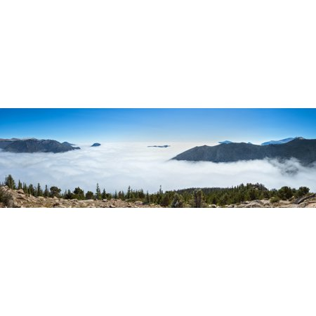 High angle view of clouds from Trail Ridge Road Estes Park Rocky Mountain National Park Colorado USA Poster Print by Panoramic Images