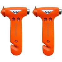 Zone Tech Seatbelt Cutter Window Breaker Emergency Escape Hammer Tool,2 Pack