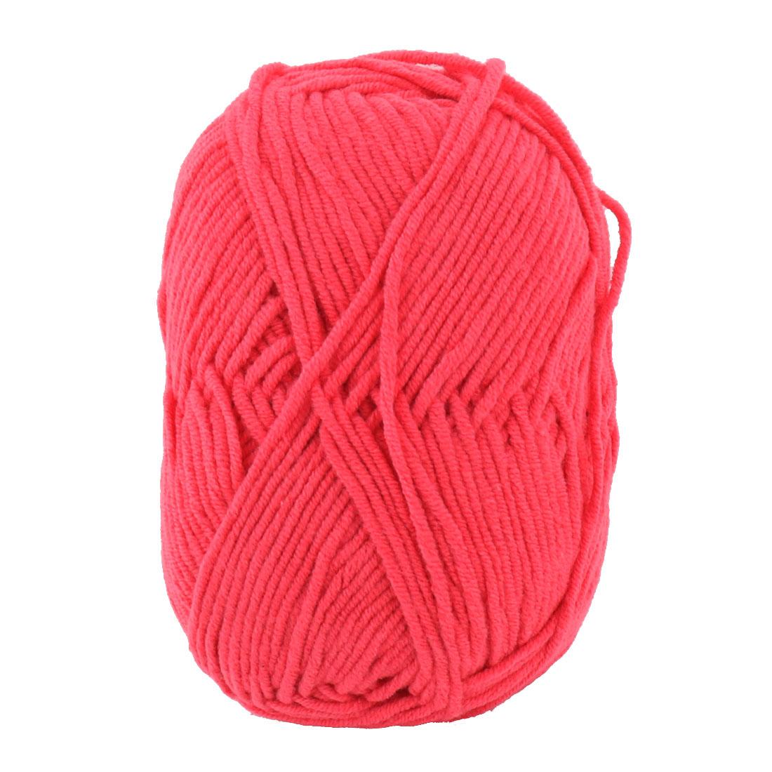 Festival DIY Handcraft Scarf Sweater Crochet Yarn String Cord Rope Hot Pink 50g - image 3 of 3