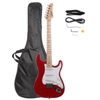Glarry Maple Fingerboard Electric Guitar with Case and Accessories Pack