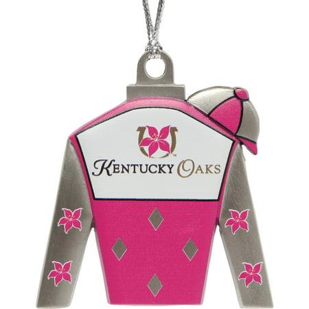 Kentucky Oaks Jockey Silks Holiday Ornament - No Size - Cheap Jockey Silks
